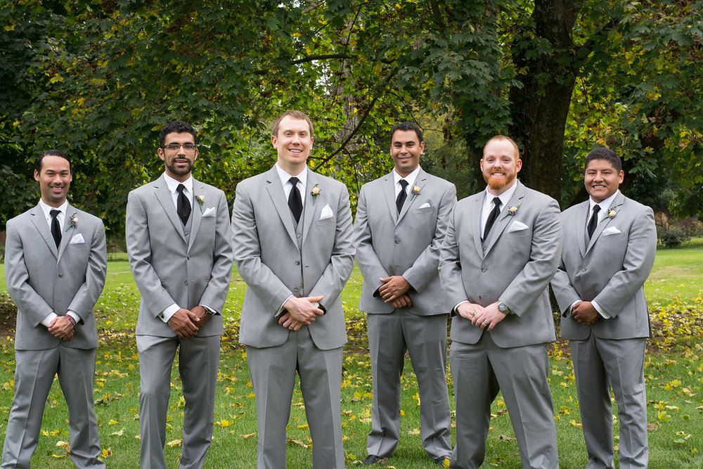 Whitehall Estate and Winery Wedding groomsmen Photo