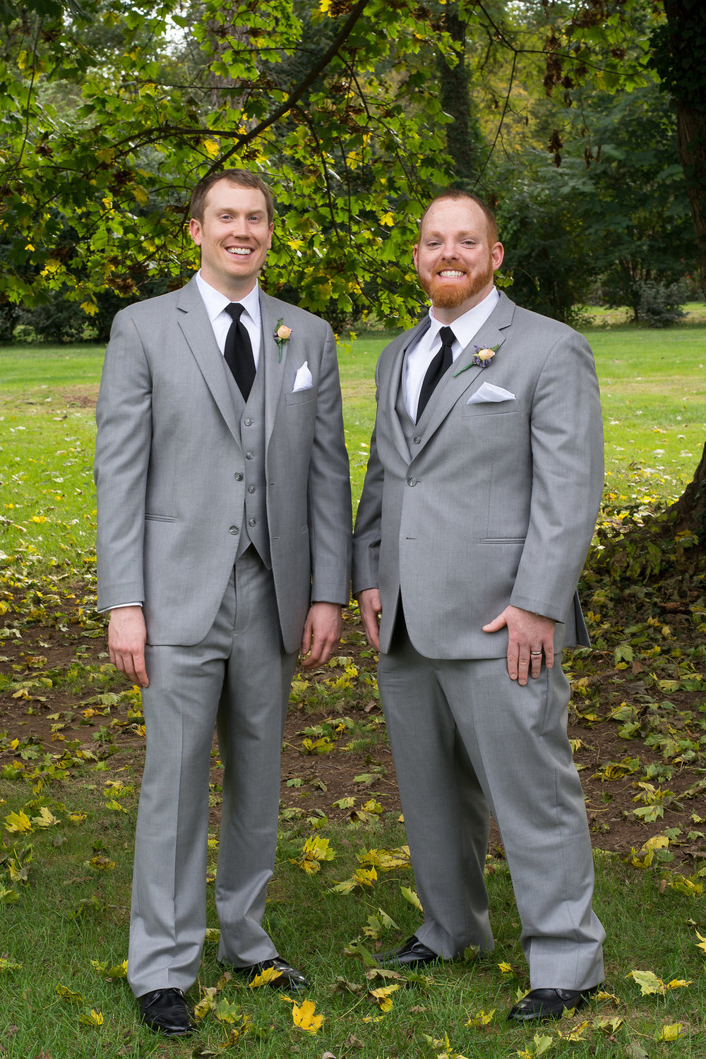 Whitehall Estate and Winery Wedding groom and best man  Photo