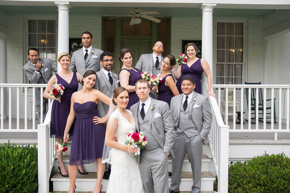 Whitehall Estate and Winery Wedding party Photo