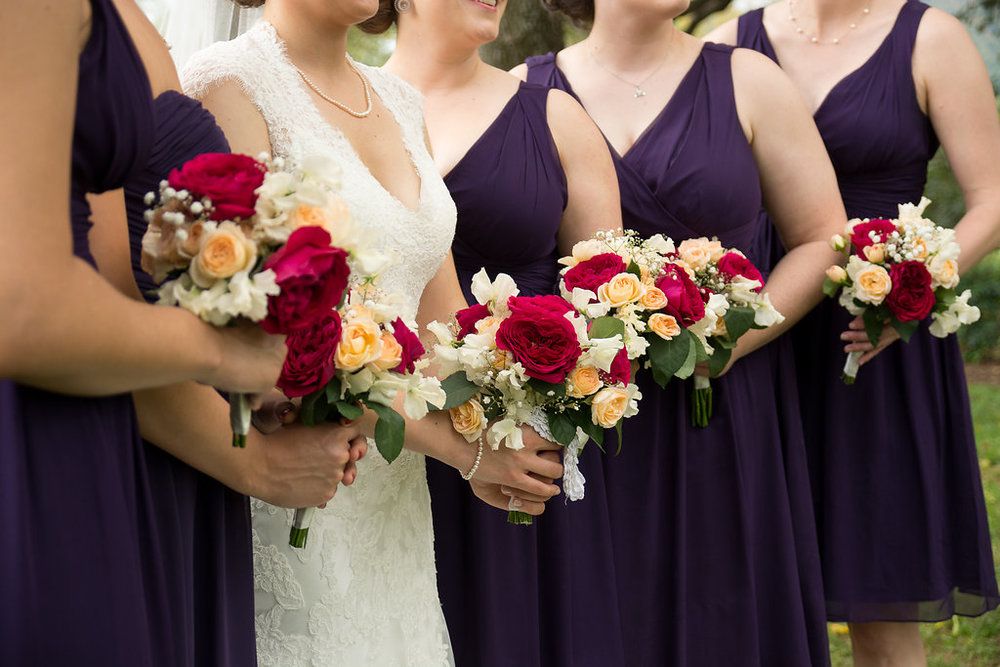 Whitehall Estate and Winery Wedding bridesmaids bouquet Photo