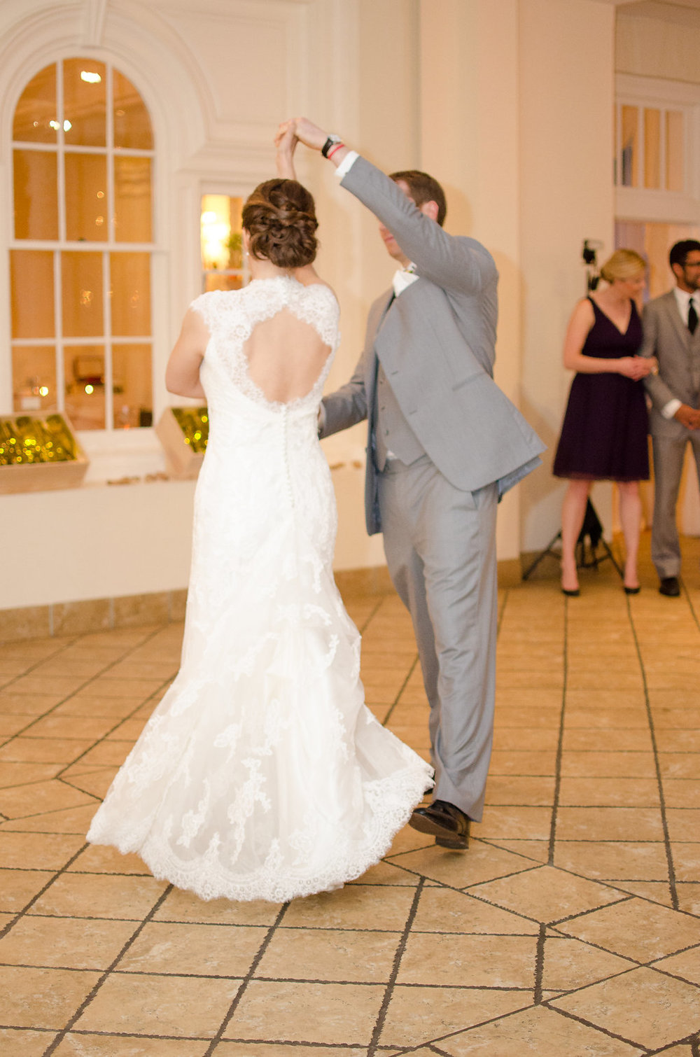 Whitehall Estate and Winery Wedding bride and groom first dance Photo