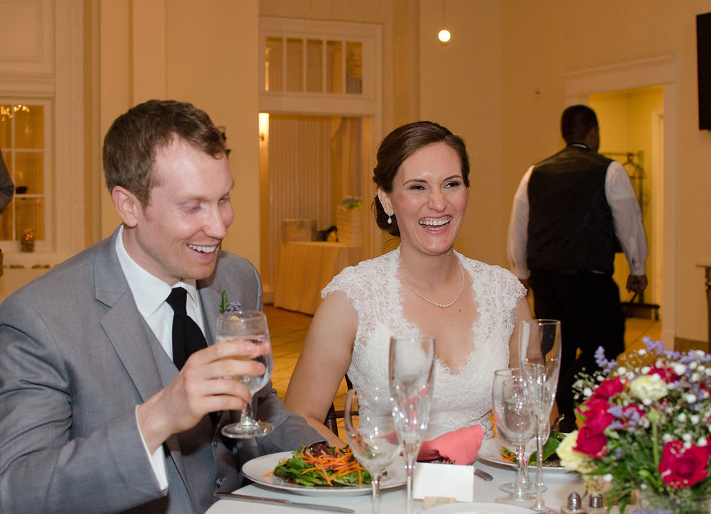 Whitehall Estate and Winery Wedding bride and groom toast Photo