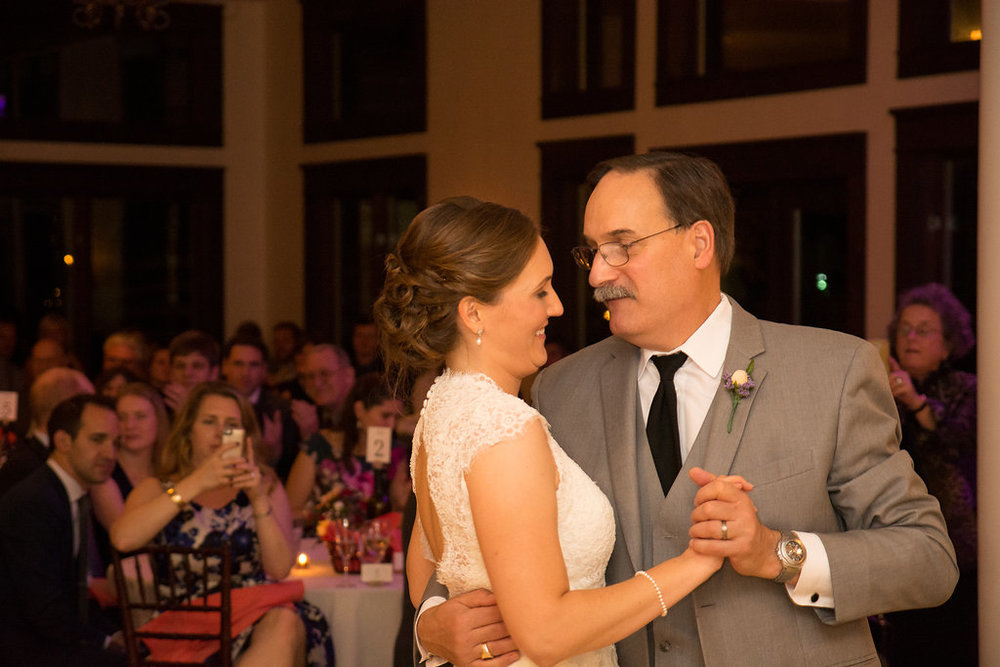Whitehall Estate and Winery Wedding bride and dad first dance Photo