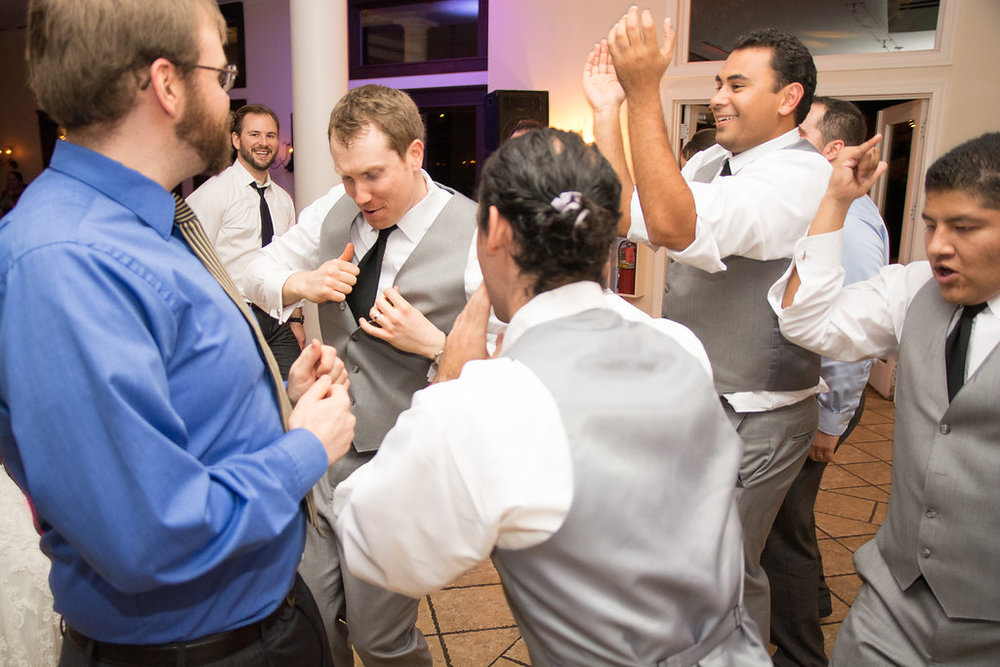 Whitehall Estate and Winery Wedding groom and groomsmen dancing Photo