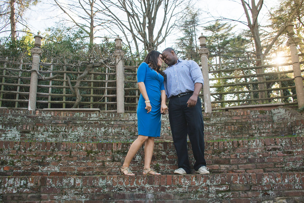 Dumbarton Oaks Engagement Couple Photo