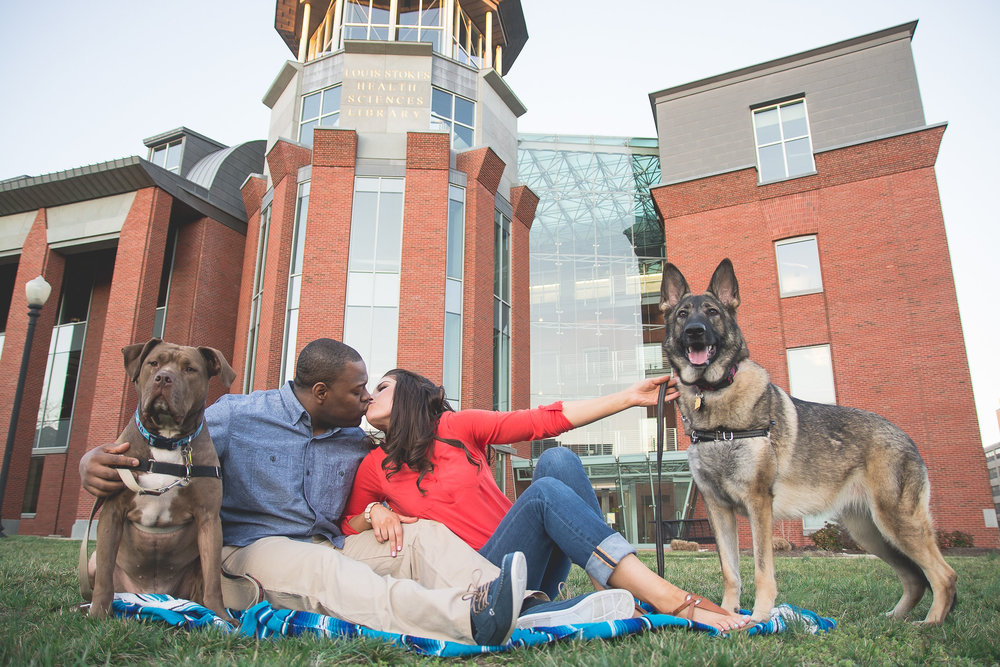 Howard University Engagement Couple Photo