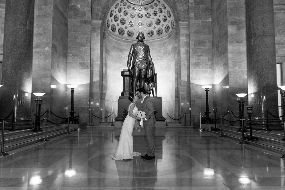george washington masonic temple alexandria wedding bride groom photo