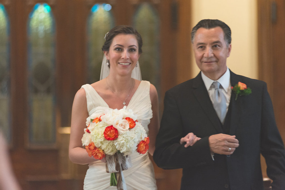bride and father ceremony st mary catholic church old town alexandria wedding