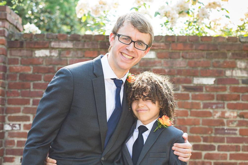 nephew groom groomsmen bridal party old town alexandria