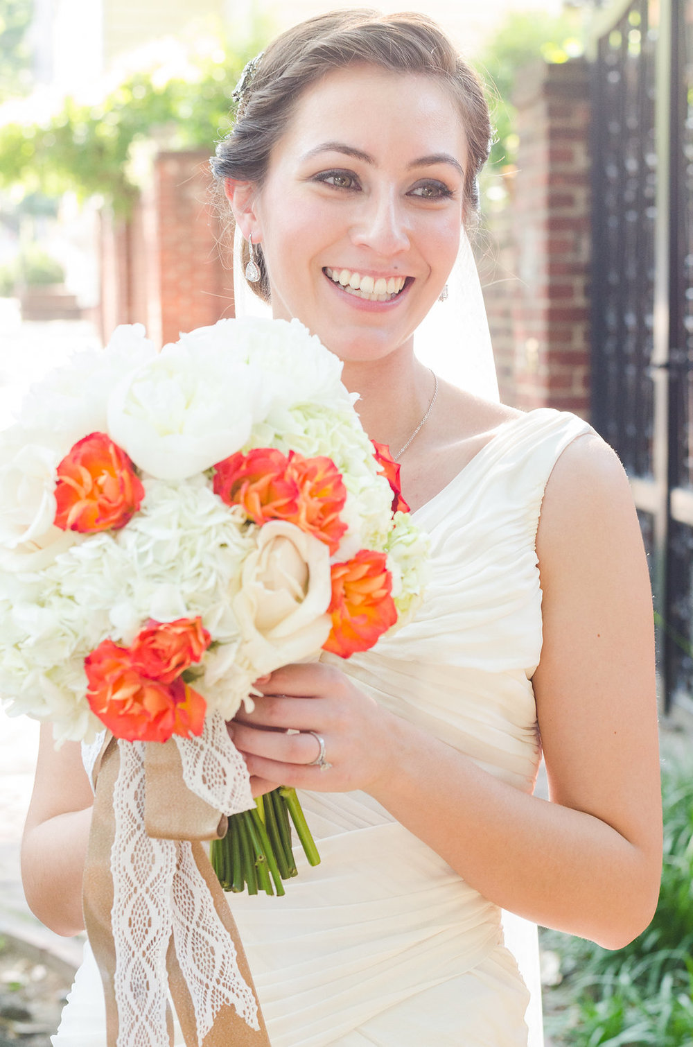 bride happy beautiful flowers chic girl flowers old town alexandria flowers