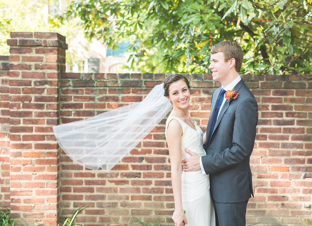 chic girl flowers bride groom wedding old town alexandria happy st mary catholic church veil
