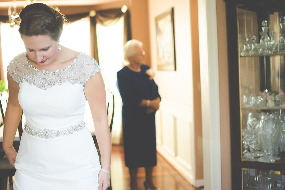 bride and grandmother portrait