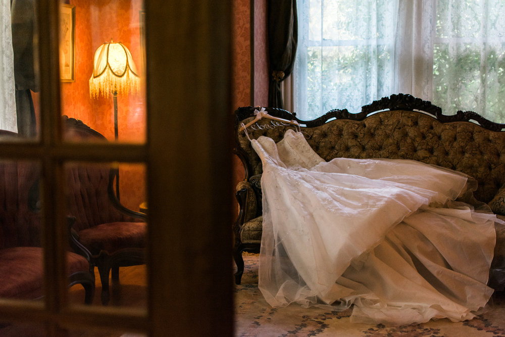 wedding dress portrait photo