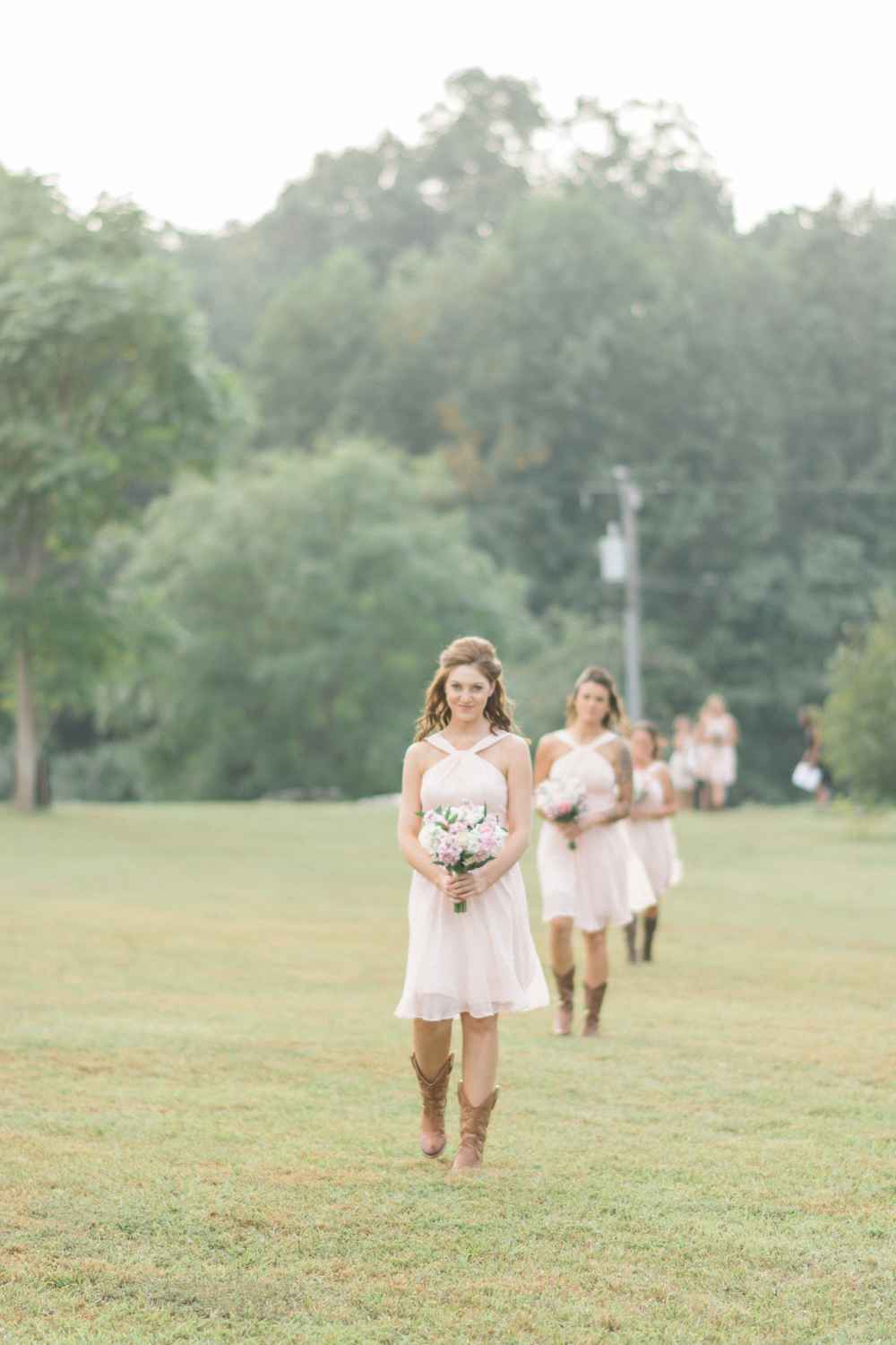 bridesmaids walking to alter photo