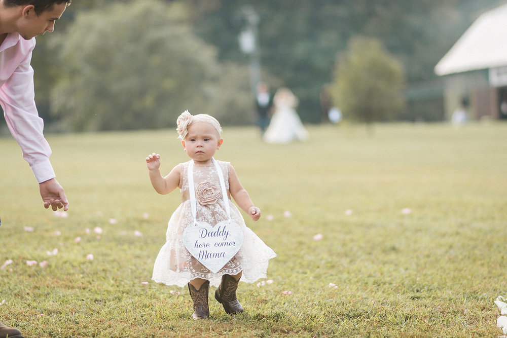 flower girl at glasgow farm photo