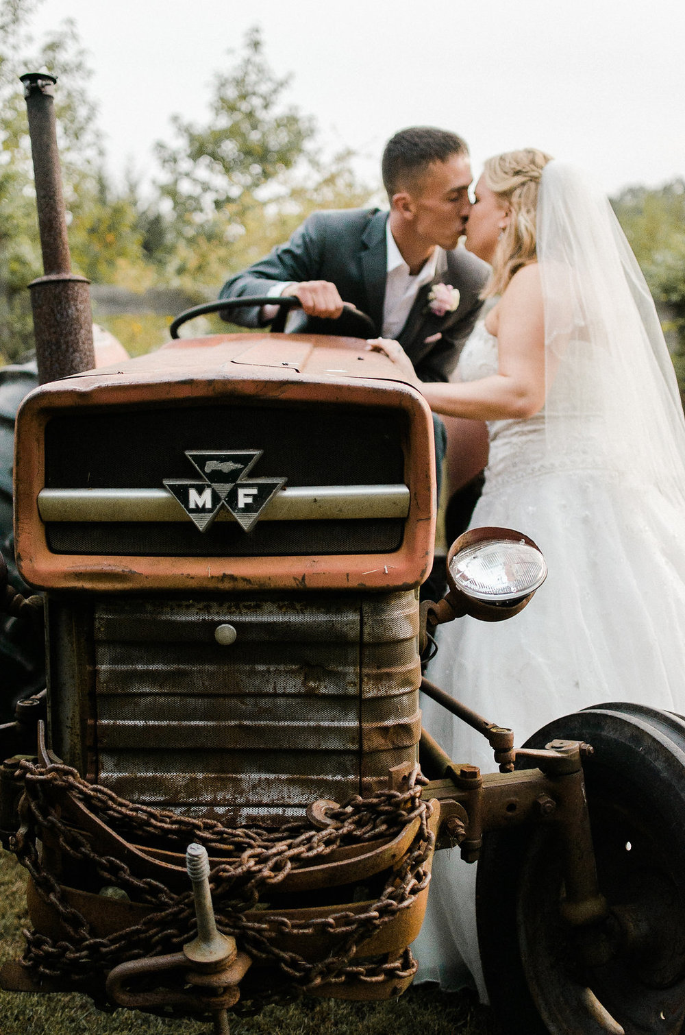 country bride and groom photo