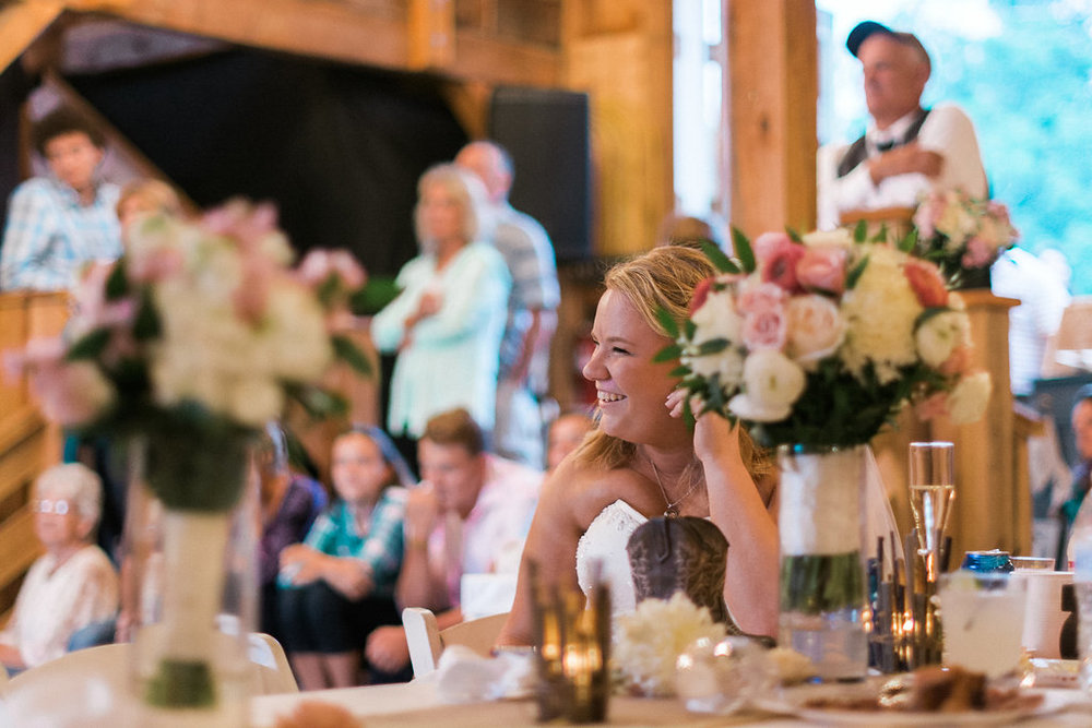 bride and maid of honor toast photo