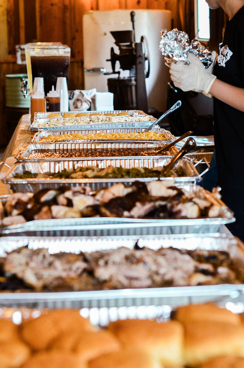 wedding reception mccoys bbq catered food details photo