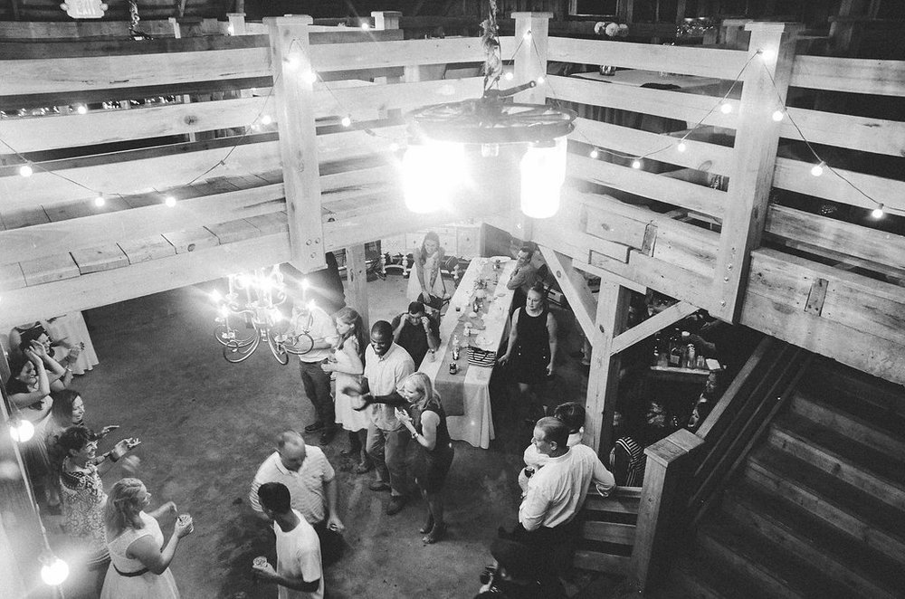 country barn wedding dancing photo