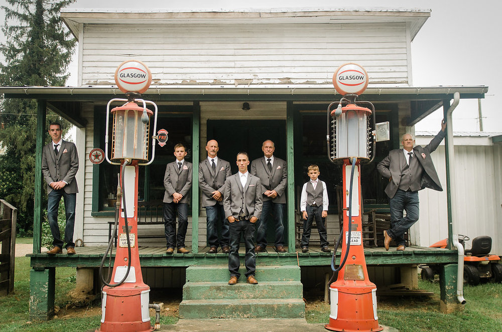 country groom and groomsmen photo