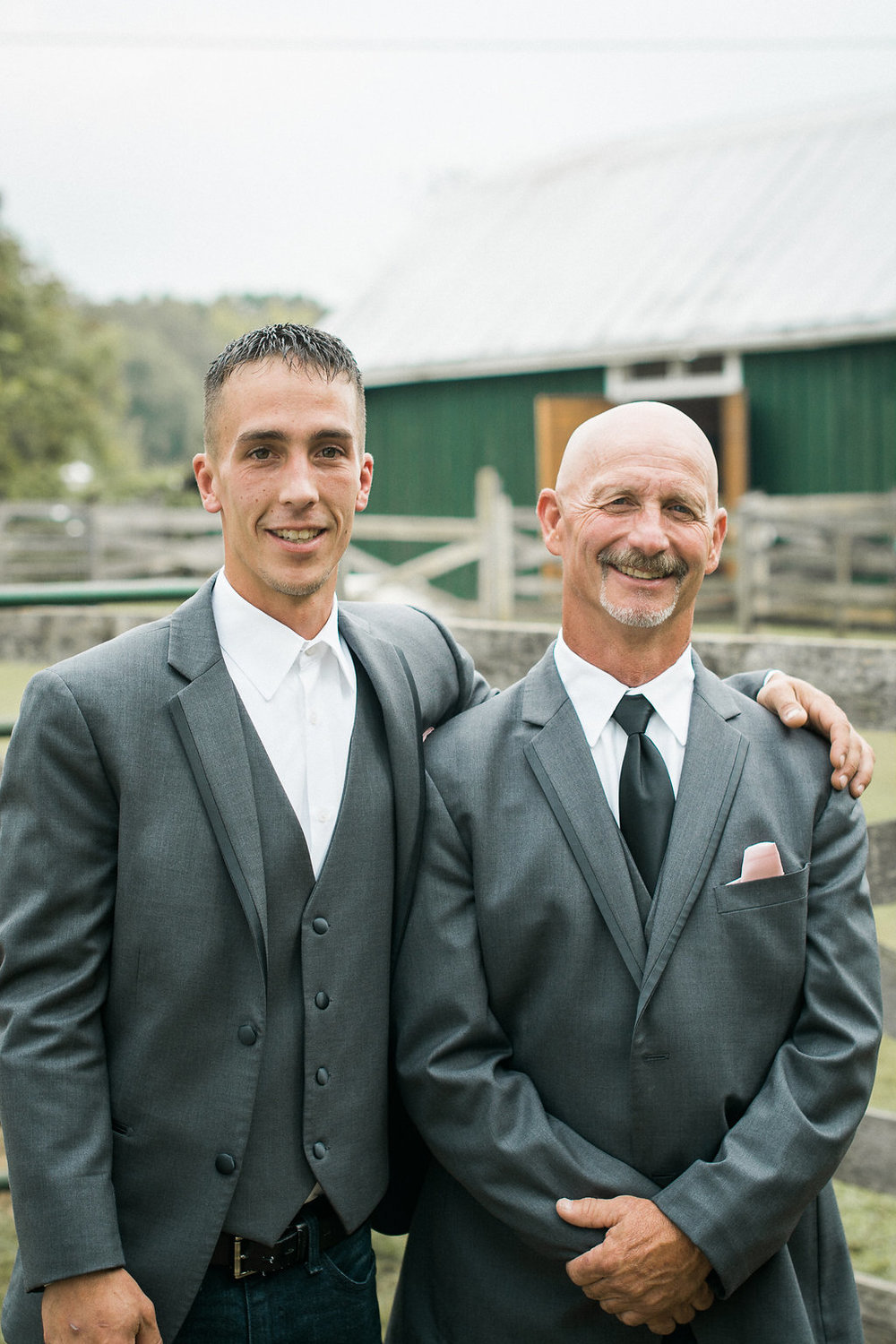 country groom and father photo