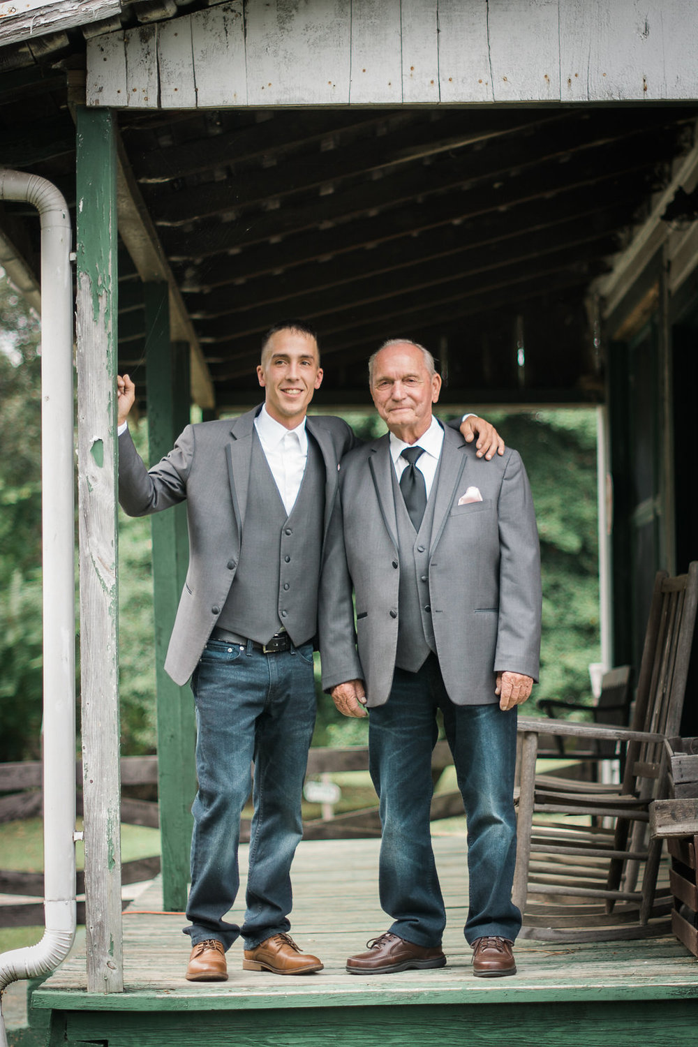 groom and best man grandfather photo
