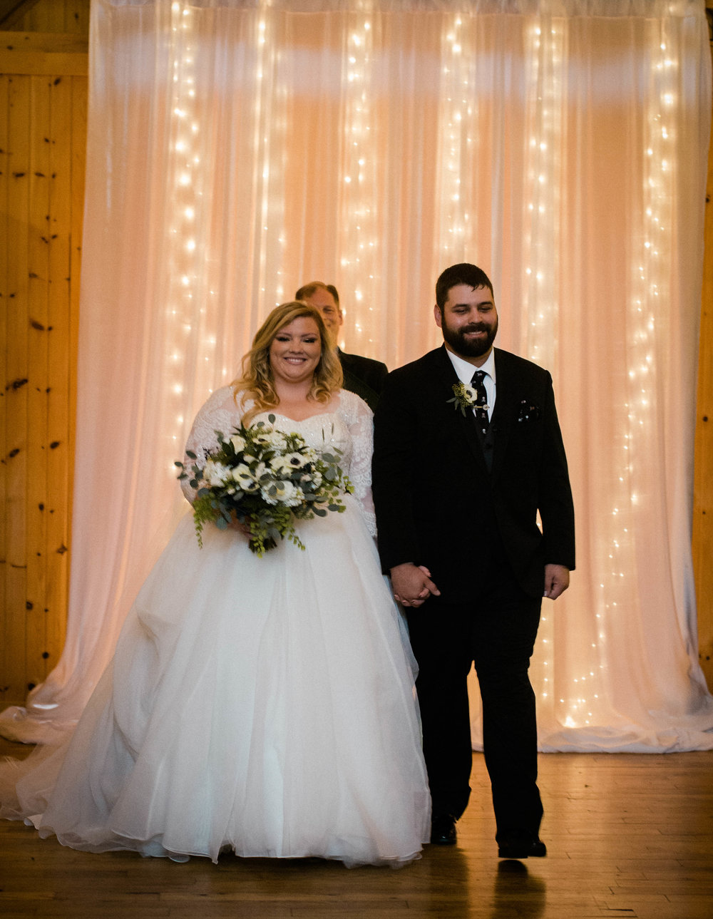 bride and groom married barn ceremony photo