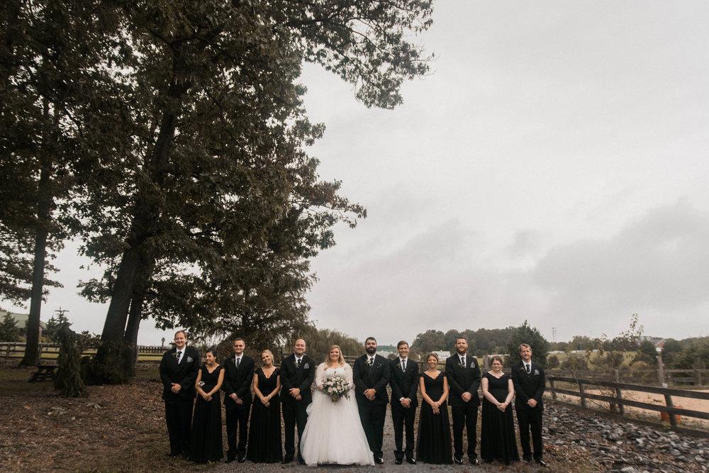 serra valley farms wedding party photo