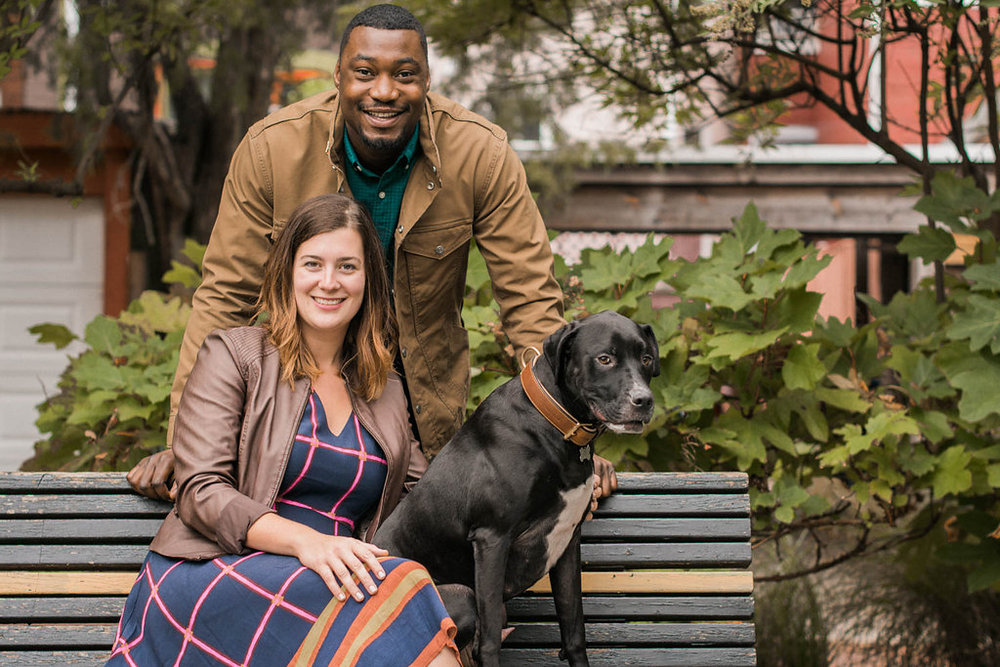 crispus attucks park engagement session park photo