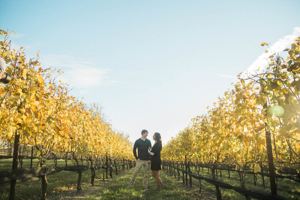 stone tower winery engagement session photo