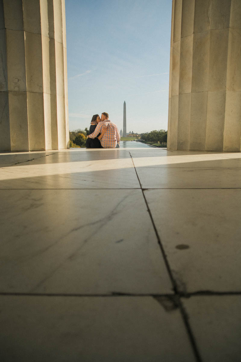 Lincoln Memorial Engagement Session Photo