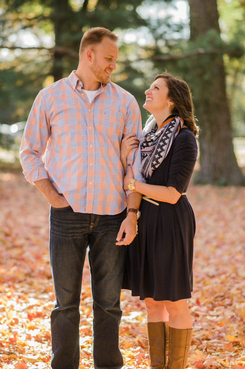 Washington DC fall Engagement Session Photo