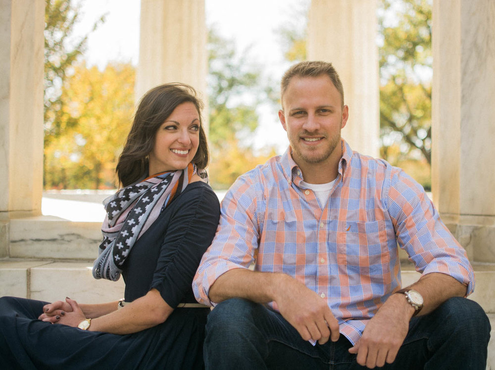 WW1 Memorial Washington DC fall Engagement Session Photo