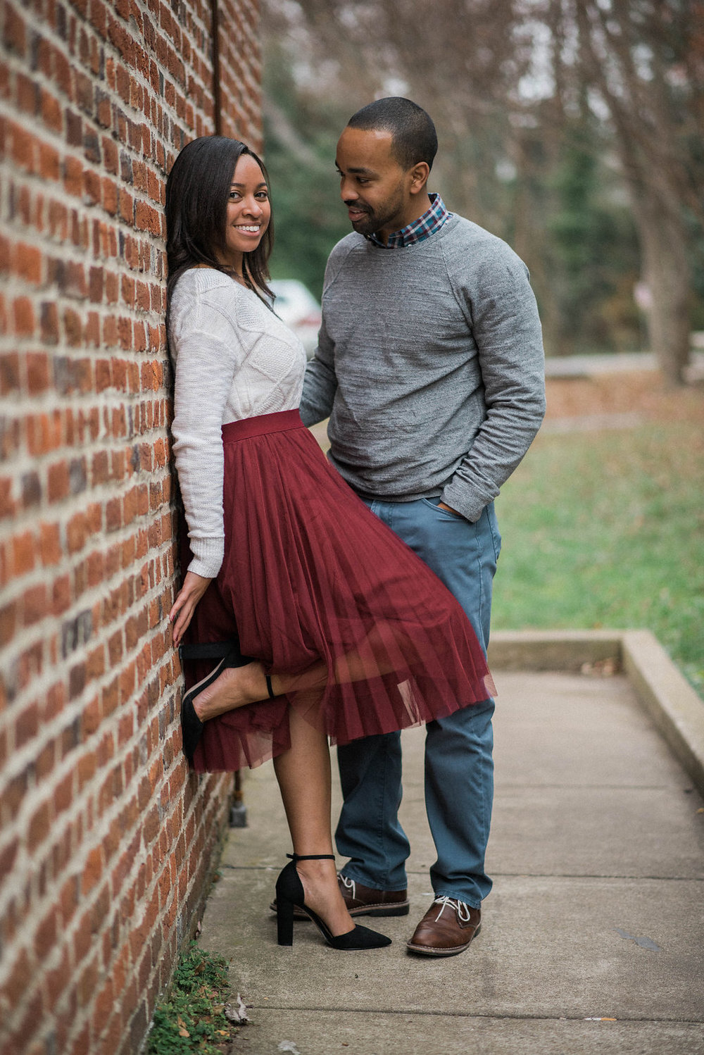 old town leesburg dramatic engagement photo