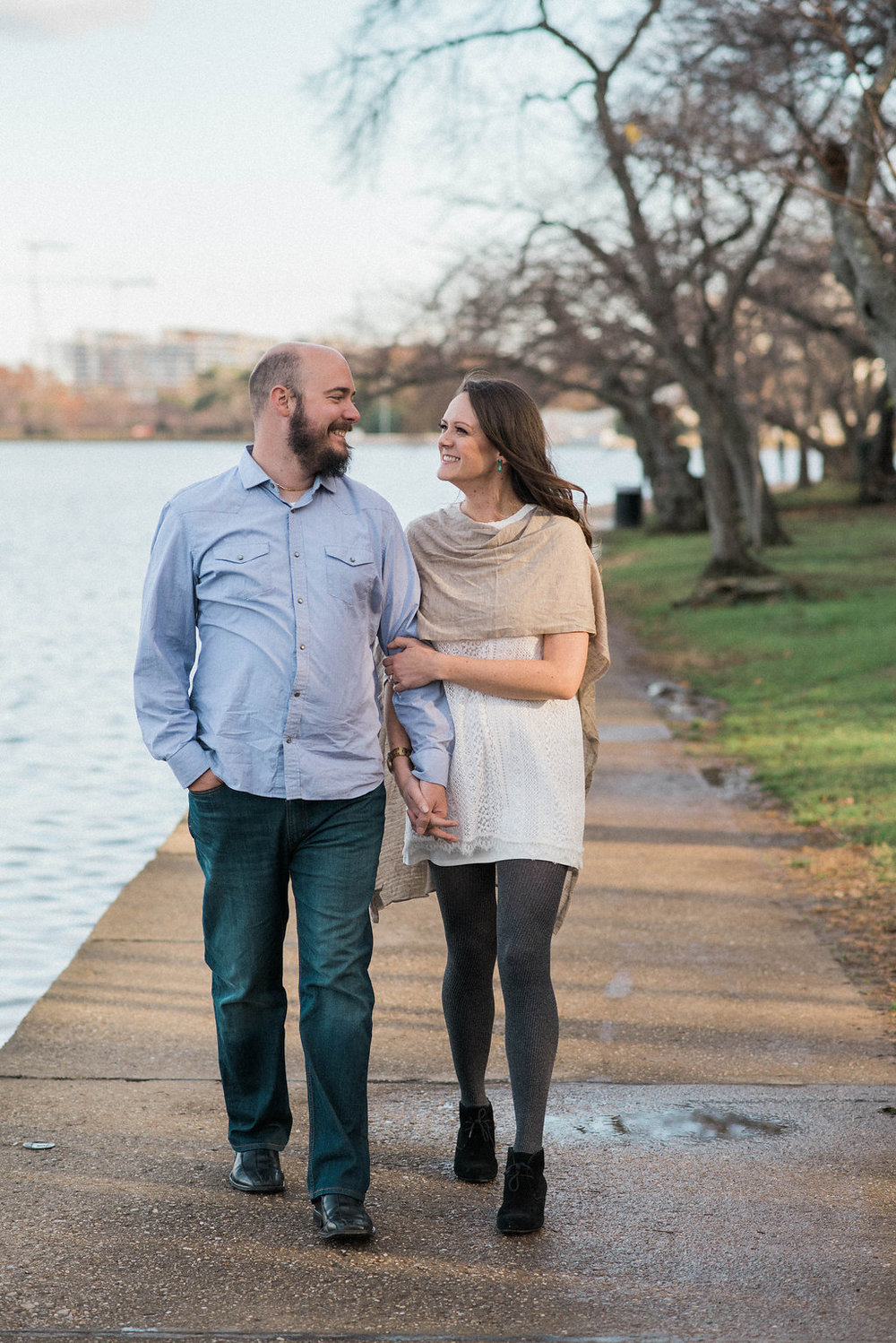 tidal basin engagement session photo