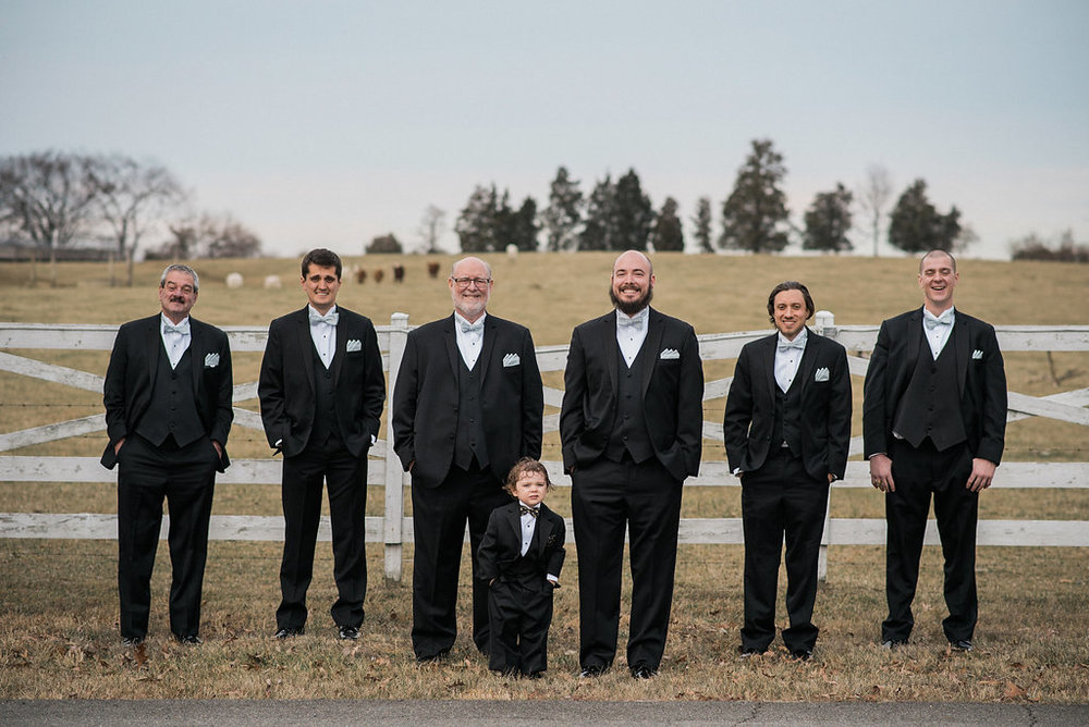 groomsmen at stone tower winery cottage house photo