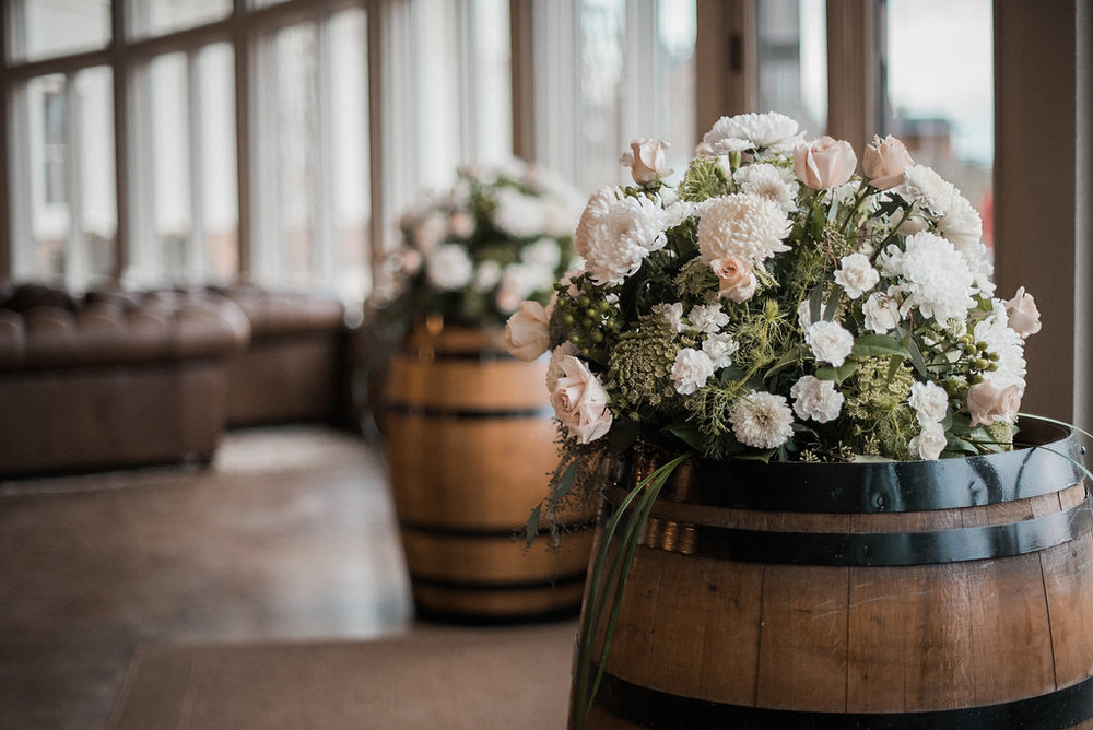 reception details at stone tower winery wedding photo