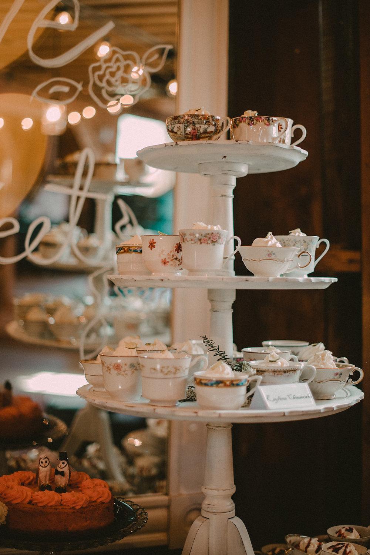 wedding teacup cheesecake desert photo