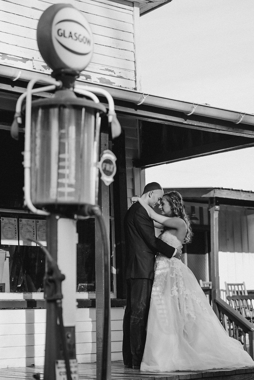 Glasgow farm bride and groom photo