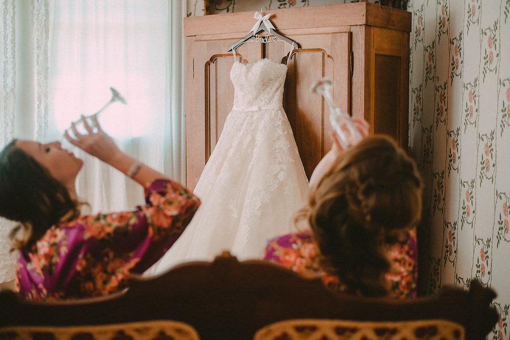 bridesmaids toasting photo