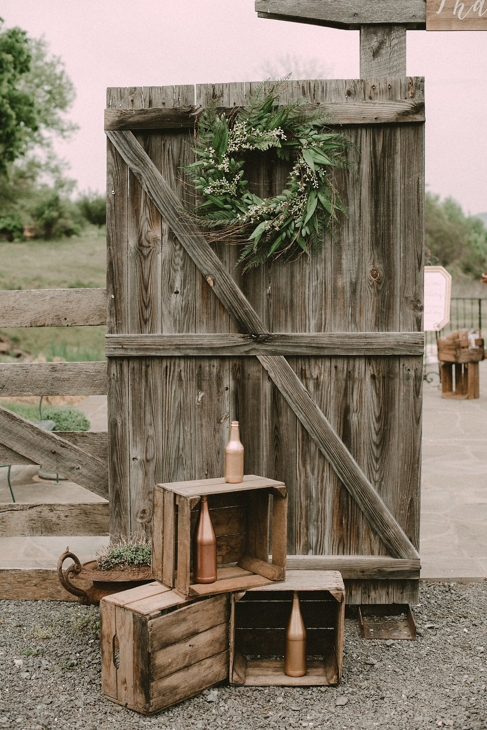 ceremony decor at vintage riverside on the Potomac wedding photo