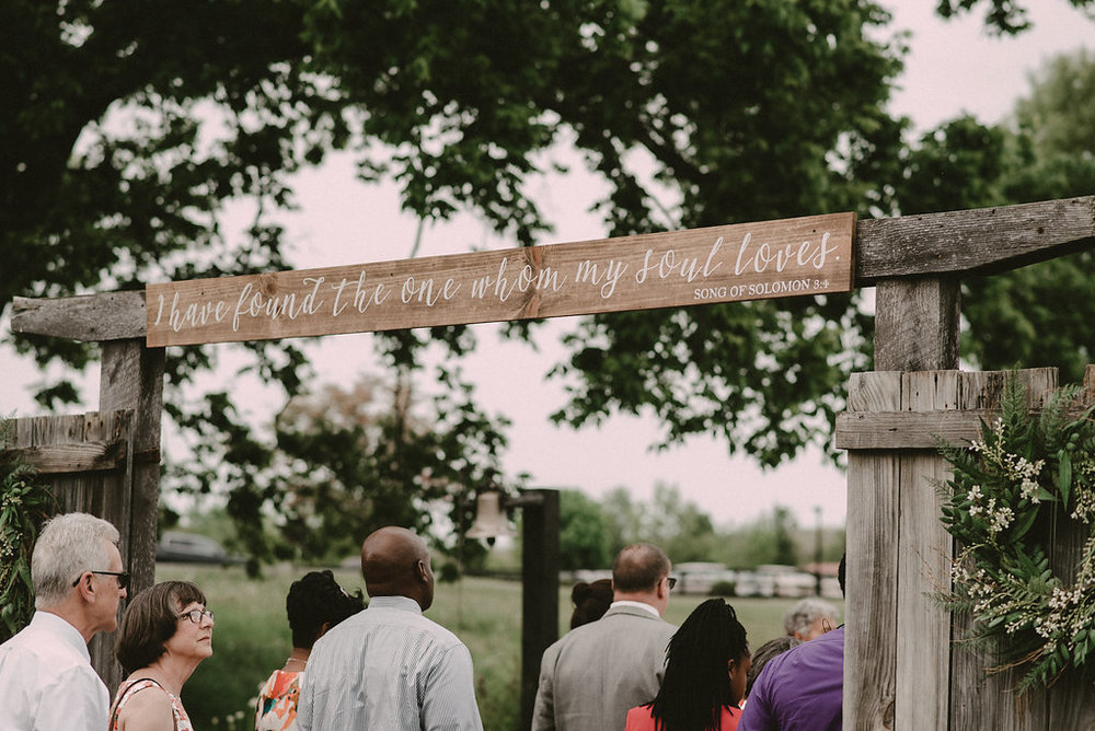 I have found the one whom my soul loves quote wedding photo