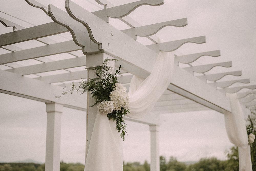 Wedding pergola in ceremony space