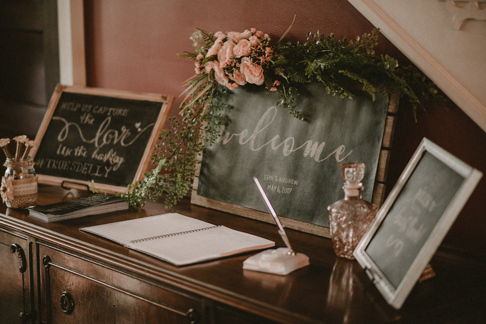 Wedding guest book at derby themed wedding