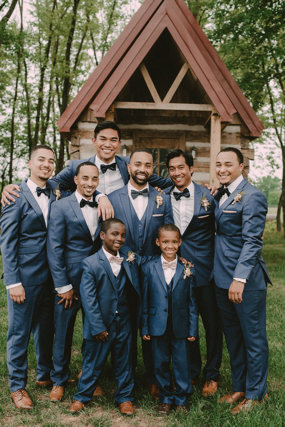 dapper Groom and groomsmen photo
