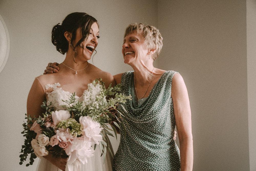 bride and mom photo