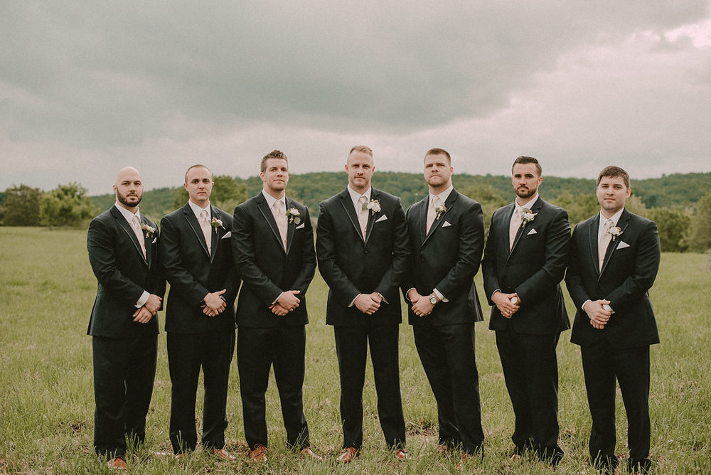Groom and groomsmen formal picture