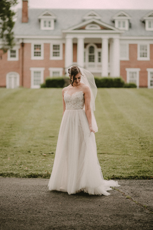 bride portrait at raspberry manor photo
