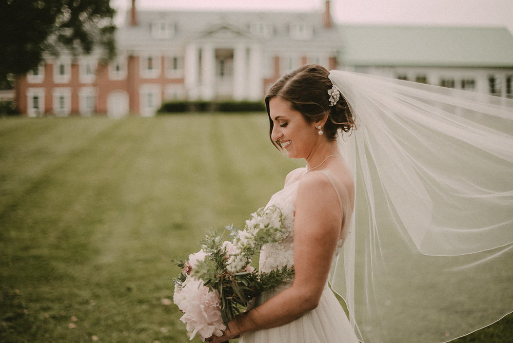 bride portrait at raspberry manor photo