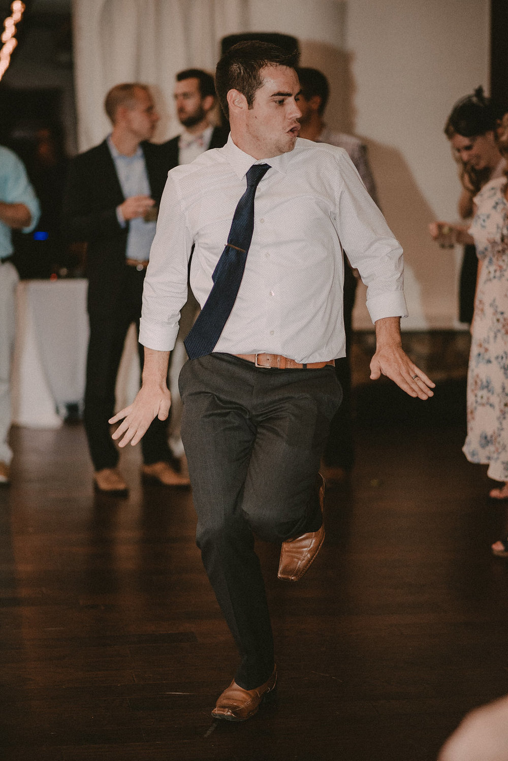 guest dancing at reception photo